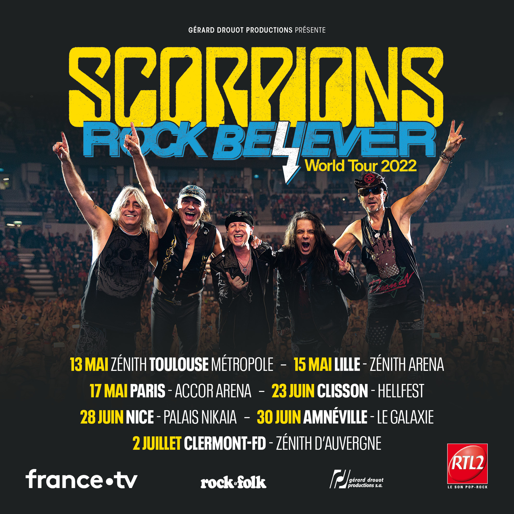 Billets Scorpions (Accor Arena - Paris)