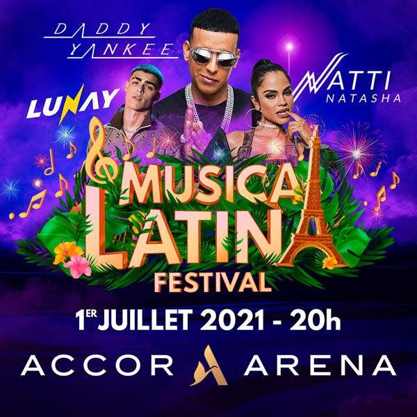 Billets Daddy Yankee - Natti Natasha (Accor Arena - Paris)