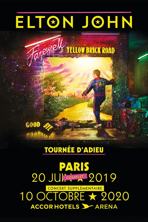 Billets Elton John (Accor Arena - Paris)