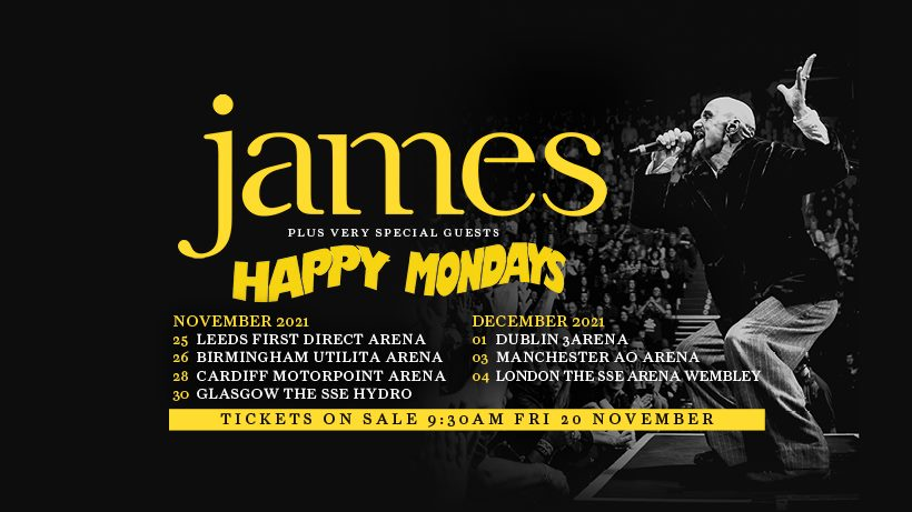 James and Happy Mondays at Motorpoint Arena Cardiff Tickets
