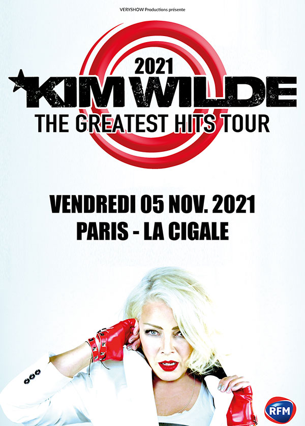 Billets Kim Wilde (La Cigale - Paris)