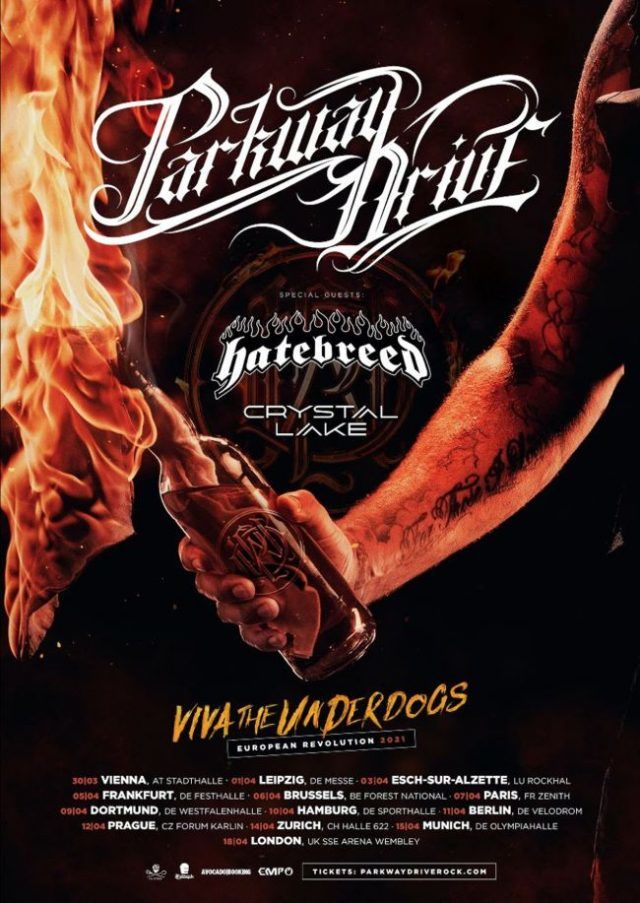 Billets Parkway Drive - Hatebreed - Crystal Lake (Olympiahalle Munchen - Munich)