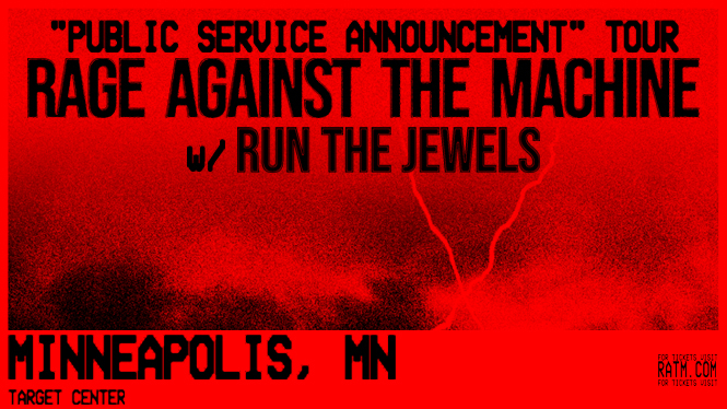 Billets Rage Against The Machine - Run The Jewels (Target Center - Minneapolis)
