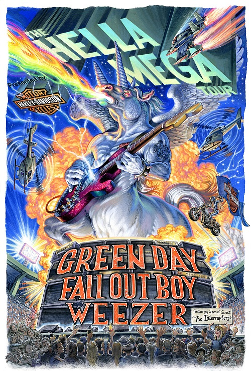 Billets The Hella Mega Tour : Green Day - Fall Out Boy - Weezer (T-Mobile Park - Seattle)